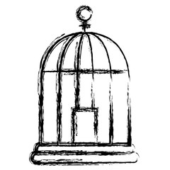 cage bird isolated icon