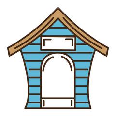 dog house isolated icon