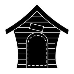 dog house isolated icon