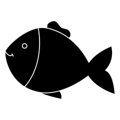 fish pet isolated icon