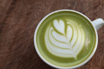 hot green tea with milk