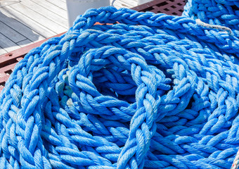 Rope on a sailing boat