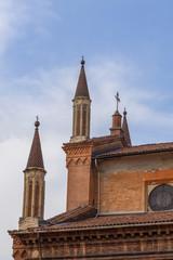 Historische Fassade von Bologna Emilia Romagna Italien