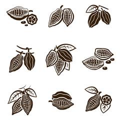 Cocoa Beans set