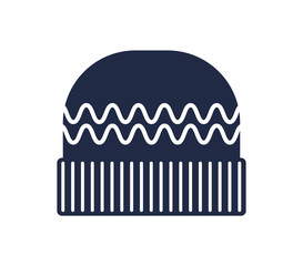 Winter knitted hat isolated vector icon. Outdoor activity, nature traveling equipment element.