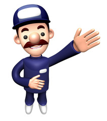 3D Technician Character is a guide gesture.