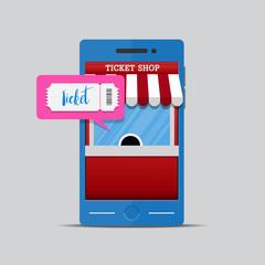Ticket shop online.E-Commerce online shopping web Site buy ticket.
