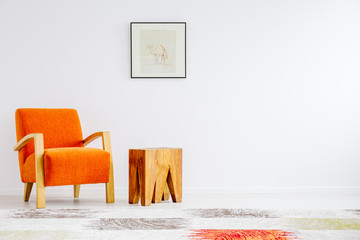 Trendy orange chair