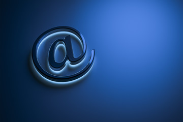 blue email sign