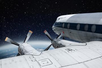 airplane and night