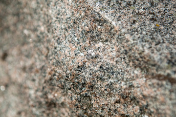 Rock material from a granite monument