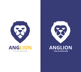 Vector lion logo or symbol design template