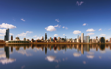 Chicago City and Michigan Lake, Chicago, Illinois, USA