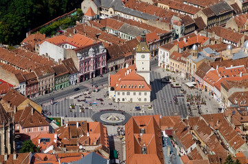 Aerial view of Brasov, Romania