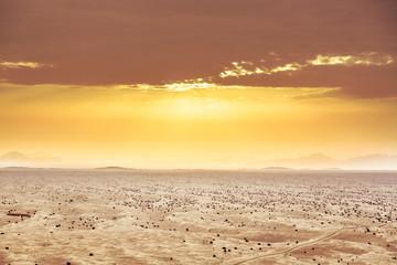 Aeriel View on Desert Landscape