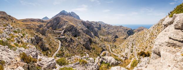 Sa Calobra road -Carretera de Sa Calobra in Mallorca Island, Spain. This road is one of the most scenic and dangerous road in the world.
