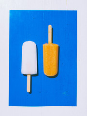 Popsicle on a colored background