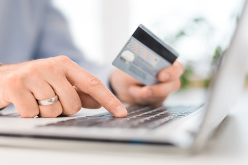 Online payment and shopping concepts.