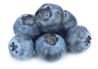 blueberries isolated on white background. macro