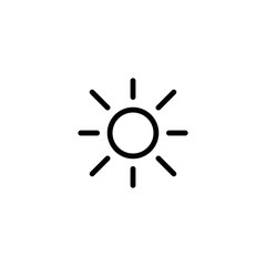 brightness, sun, sunlight, line black icon