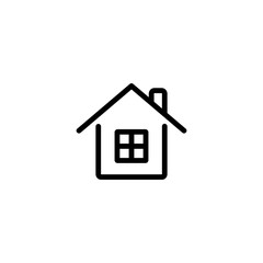 home, house line black icon on white background