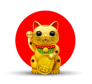 japan lucky cat golg