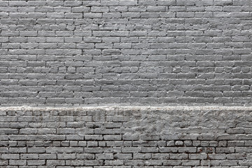 Silver Painted Brick Wall