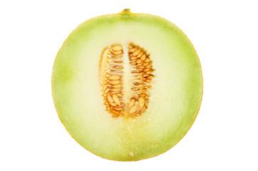 Galia melon section