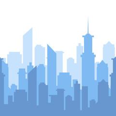 Vector illustration. City skyline silhouette. Urban landscape.