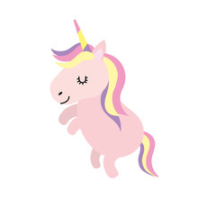 beauty unicorn dancing with hairstyle design