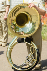 Wind instruments of the military orchestra