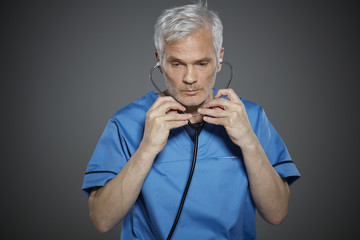 Portrait of a mature nurse.