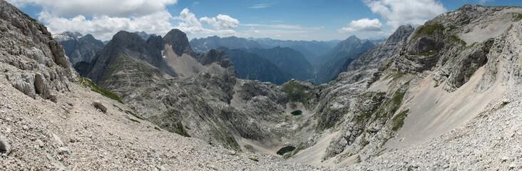 Kriski podi above Zadnjica valley in Triglav national park in Julian Alps in Slovenia