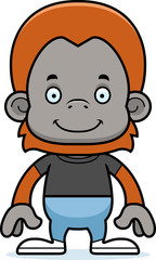 Cartoon Smiling Orangutan
