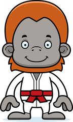 Cartoon Smiling Karate Orangutan