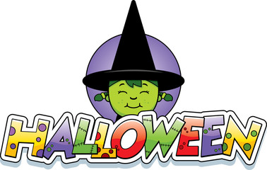 Cartoon Witch Halloween Graphic