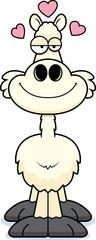Cartoon Llama Love