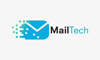 send email logo concept, Mail Technology logo designs vector illustration