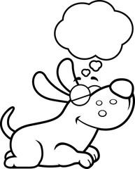Cartoon Dog Dreaming