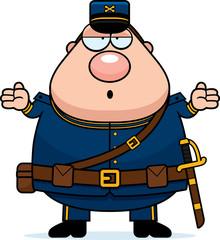 Confused Cartoon Union Soldier