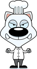 Cartoon Angry Chef Kitten