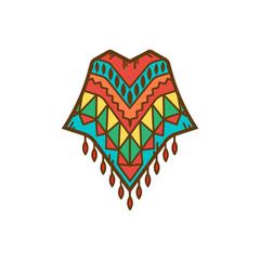 Poncho clothing icon