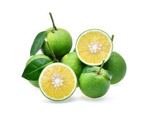 sweet orange(Citrus medica Linn) isolated on white background