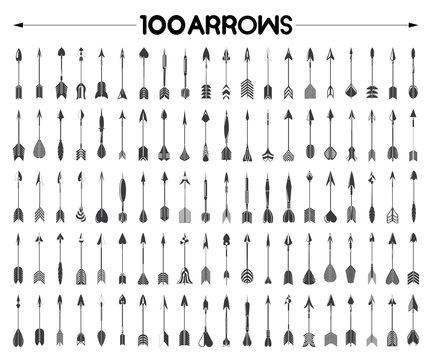bow arrows set, hipster arrows, vintage arrows