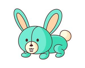 Bunny Doll Cute Cartoon Vector Illustration