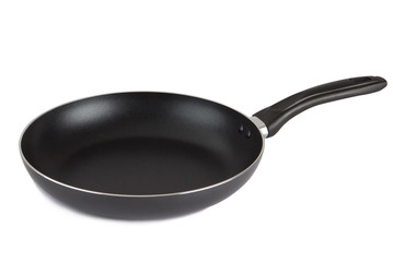 Flying pan with non-stick surface isolated