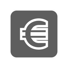 EU Euro currency vector icon