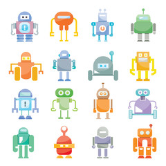 cute robot icons