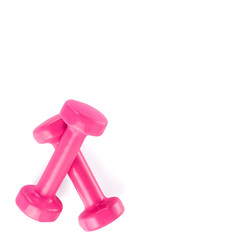 Two of dumbbells Isolated on white background