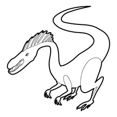Hungry dinosaur icon outline
